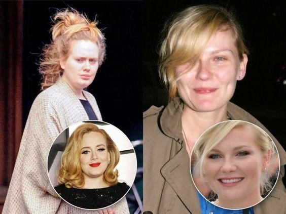 Antes Depois da maquiagem
