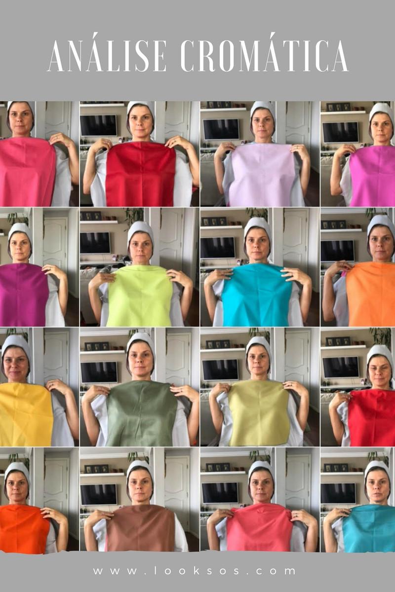 análise cromática ou teste de cores pessoais