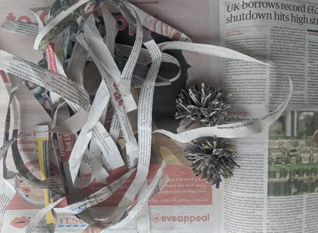 Spinning Newspaper