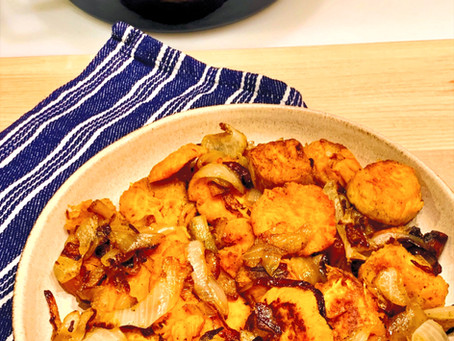 Jerusalem twice cooked sweet potatoes and onions (בטטה)