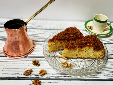 Cinnamon Walnut cake - and the story about the Finjan (פינג'אן)