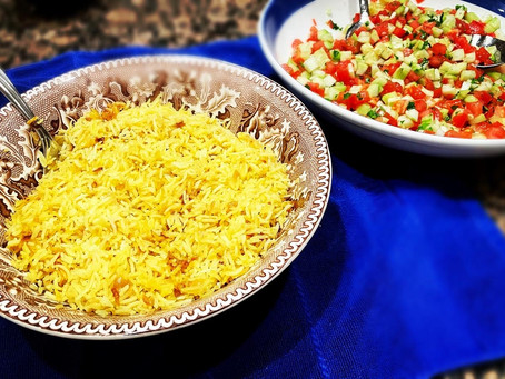 My Mother's Yellow Rice and Onions