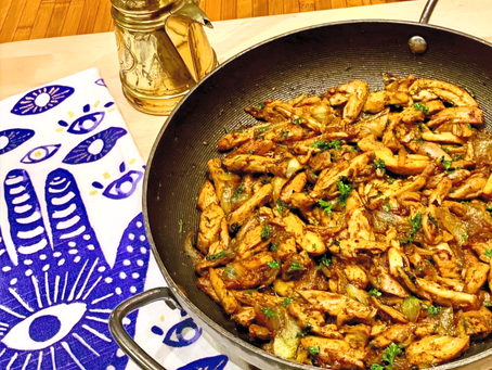 Shawarma! Tender Chicken Strips cooked to perfection with Middle-Eastern Seasoning  (שווארמה)