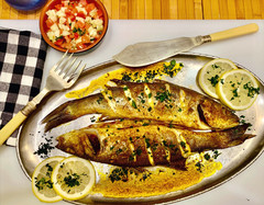 Whole Branzino - Sweet tender flavor with delicious Mediterranean seasoning (לברק)