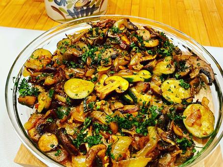 Meditterannean Zuccini and Mushroom sauté