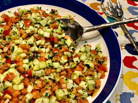 The Israeli Salad - Health in a bowl!