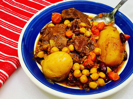 Hamin also known as Cholent (חמין) A winter dish the way my mother made it!