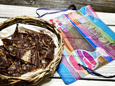 Chocolate Almond Matzah Bark (מצה‎)