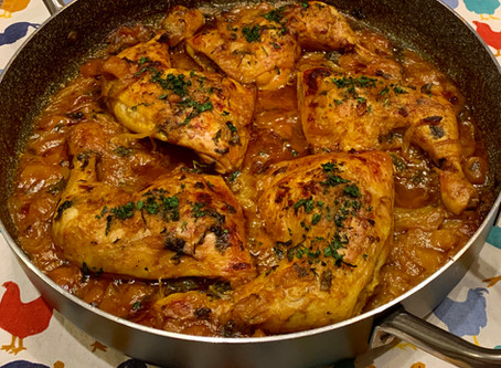 Mediterranean slow cooked chicken dish in a delicious seasoned sauce!