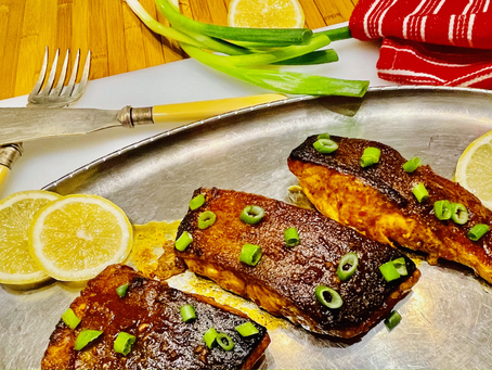 Oven baked Glazed Perfect Salmon - and the story behind it!