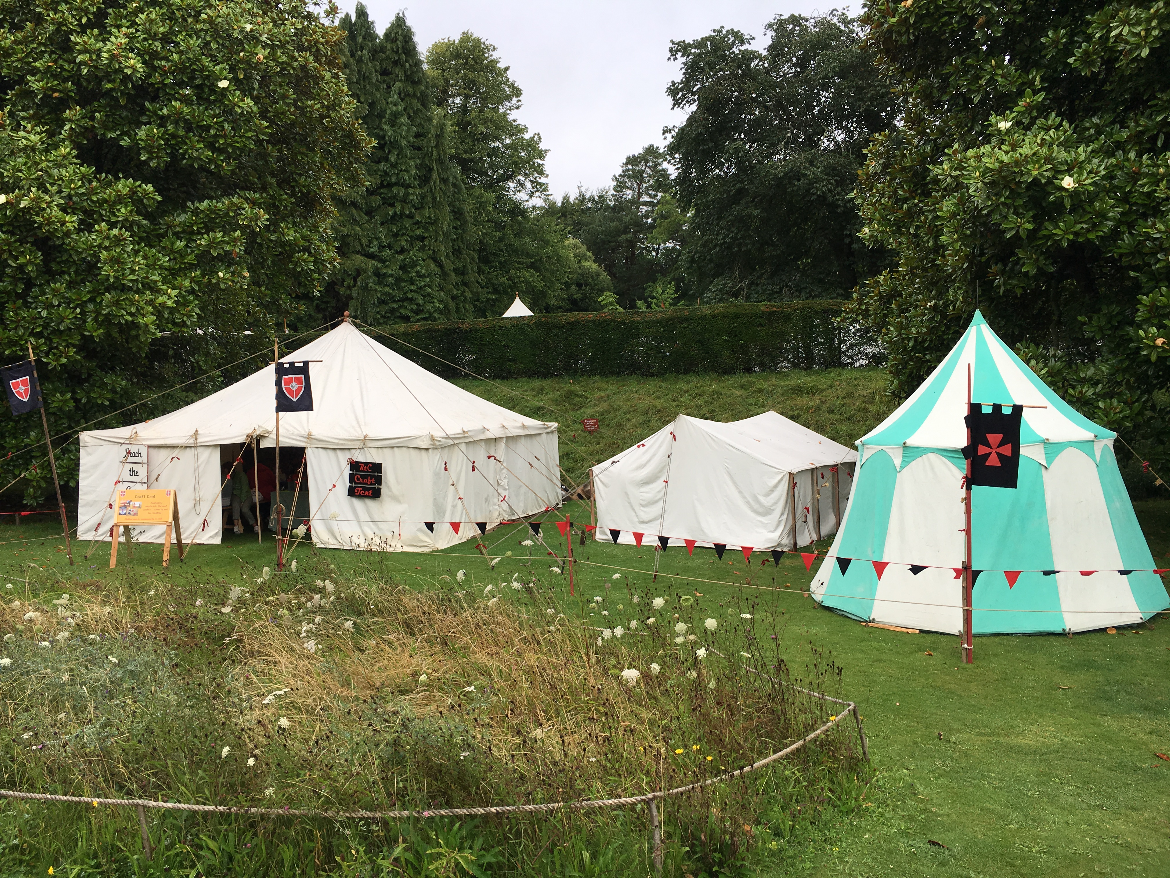 Period tents and stalls
