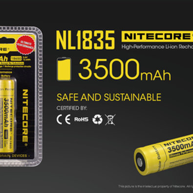 Nitecore NL1835 3500mAh Rechargeable Lithium Battery