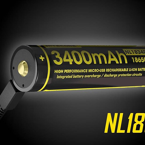 Nitecore NL1834R 3400mAh Micro-USB Rechargeable Battery