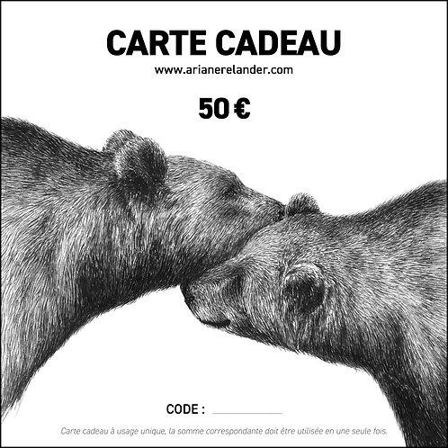 Carte cadeau - 50€ - imprimable