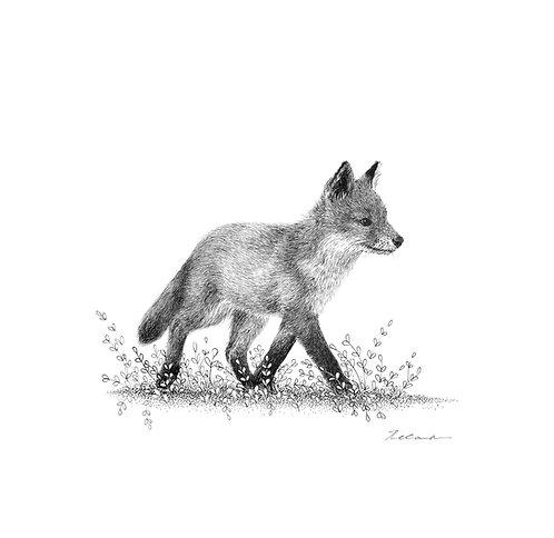 Strolling  |  original ink illustration