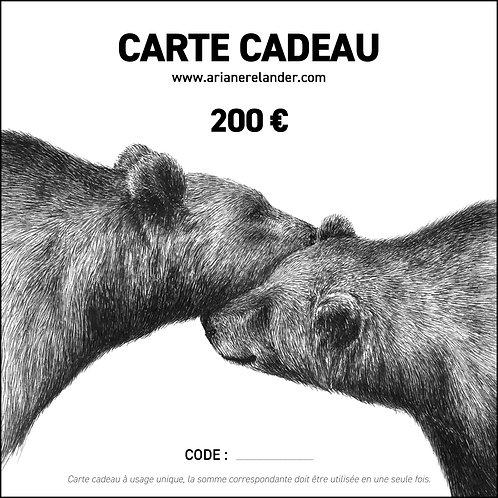 Carte cadeau - 200€ - imprimable