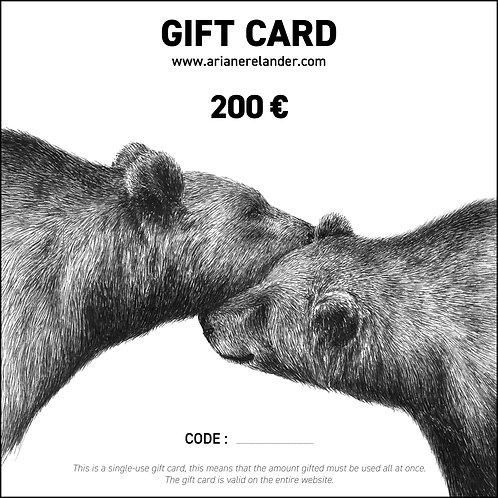 Gift card - 200€ - printable
