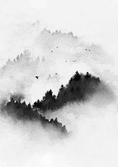 Cloudy sky - PRINT