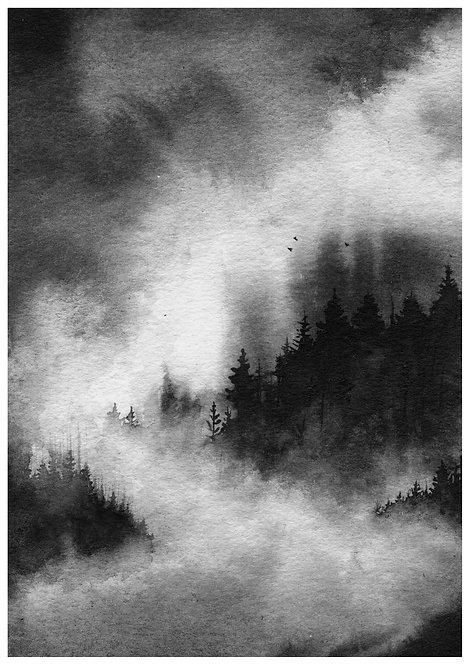 Cloudy landscape - PRINT