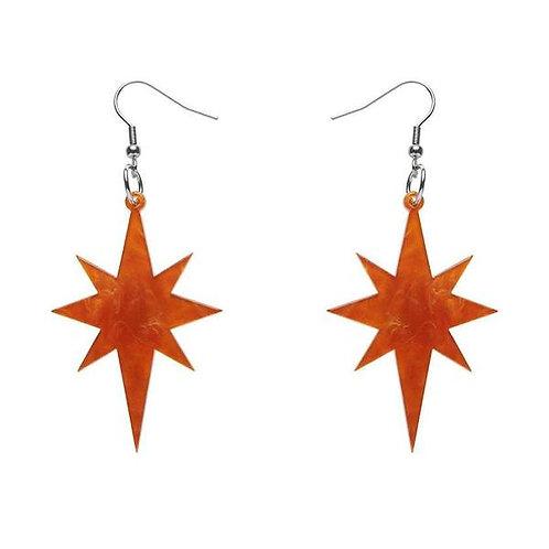 Starburst Ripple Resin Drop Earrings