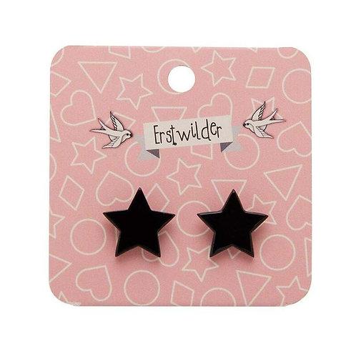 Star Solid Resin Stud Earrings