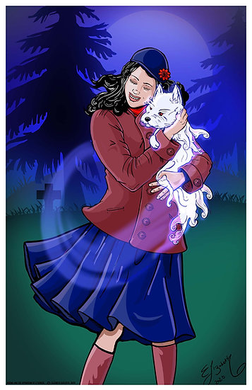 Signed Print: Norma and the Apparition of a Terrier