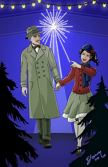 Signed Print: Norma and Derrik Christmas