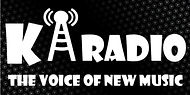 KA Radio Logo Black Background  White Te
