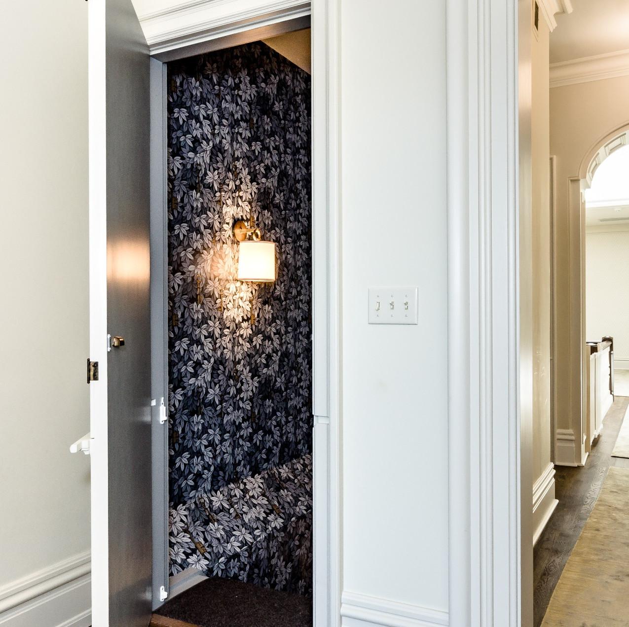 secret stairway upstairs door