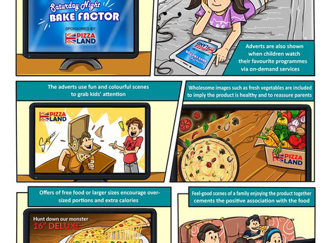 How junk food adverts are designed to appeal to families
