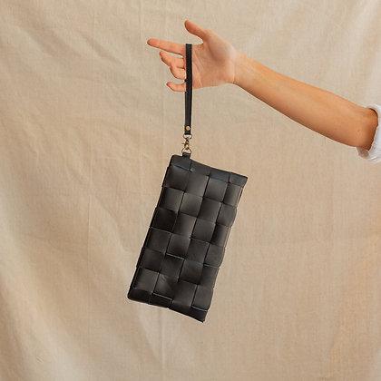 Woven Clutch, Black
