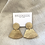 Thumbnail: Curve Drop Studs, Gold
