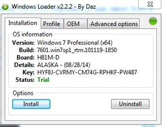 windows loader for windows 7 professional