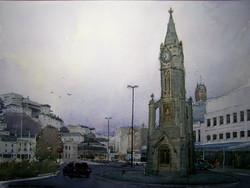 The clocktower at dusk, Torquay