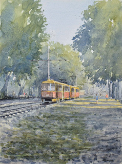 """ The tram home """