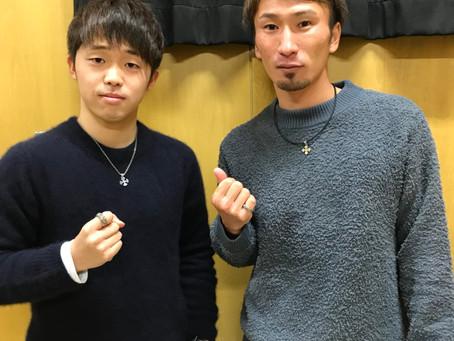 サッカー選手 佐々木 匠選手・奥埜 博亮選手