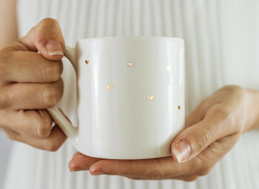 Gold Heart Mug