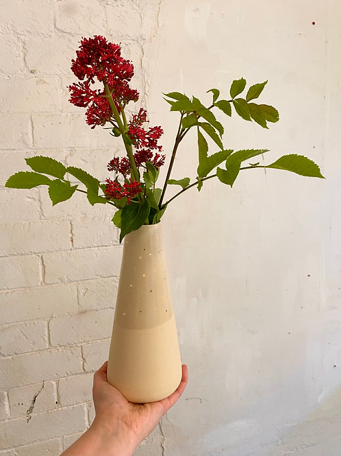 Large Vase with Gold Dots