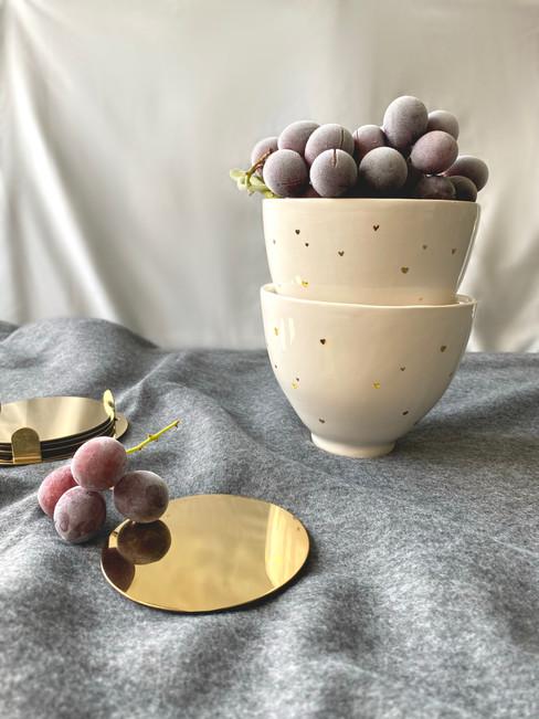 Gold Heart Bowl