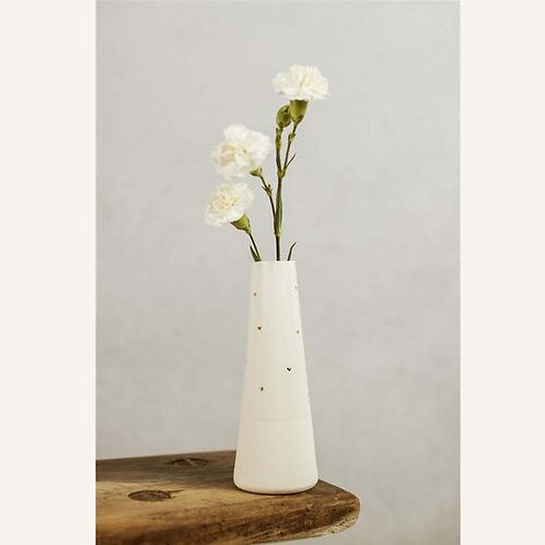 White Vase with Gold Hearts