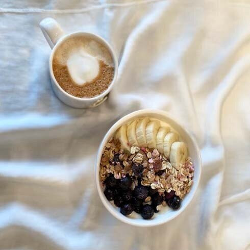 Mug and Gold Heart Bowl
