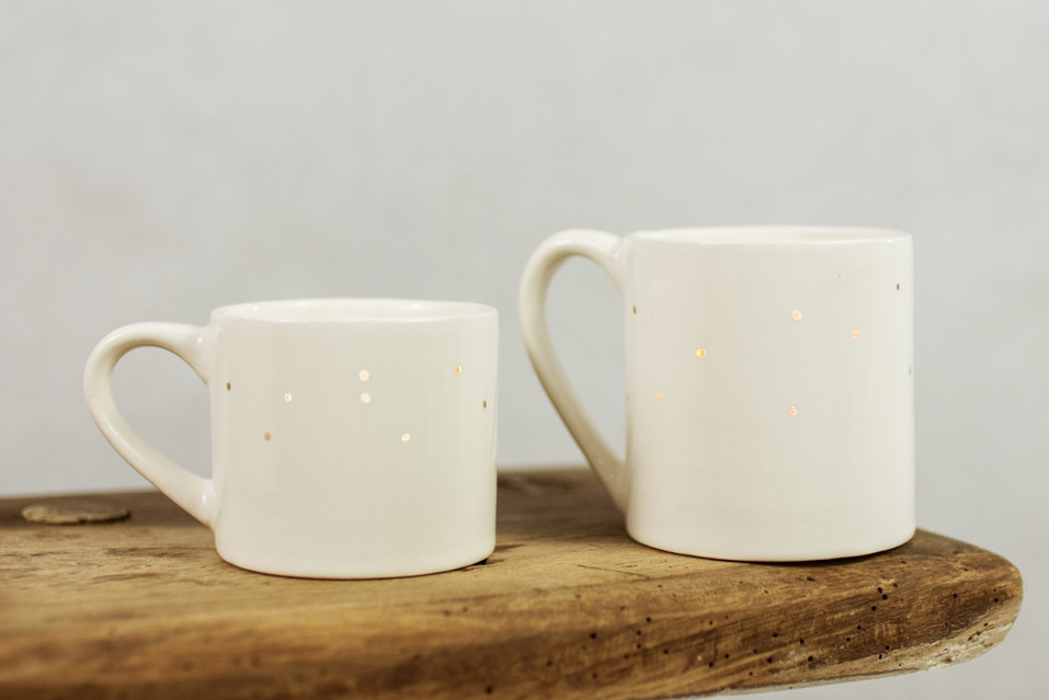 Gold Dot Cup and Mug