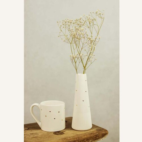 Gold Heart Mug and Vase