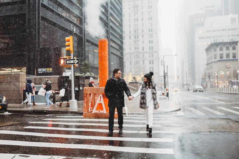 couple photoshoot in new york city
