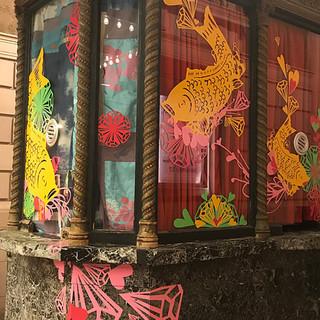 Curated Storefront Public Art- Koi Kiosk