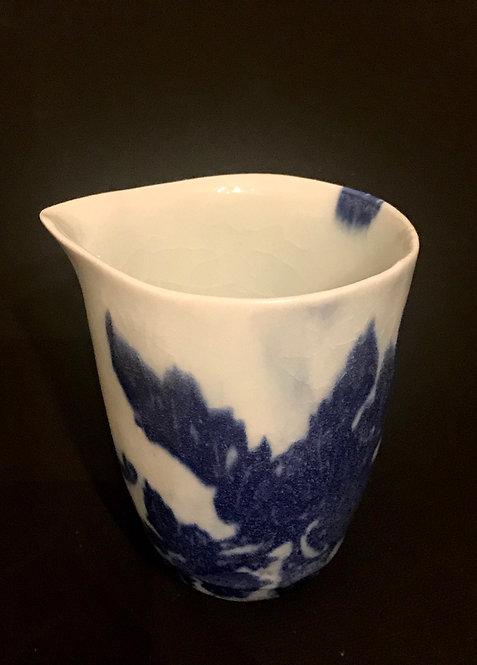 Porcelain & Cobalt Blue Sharing Cup for GongFu Tea