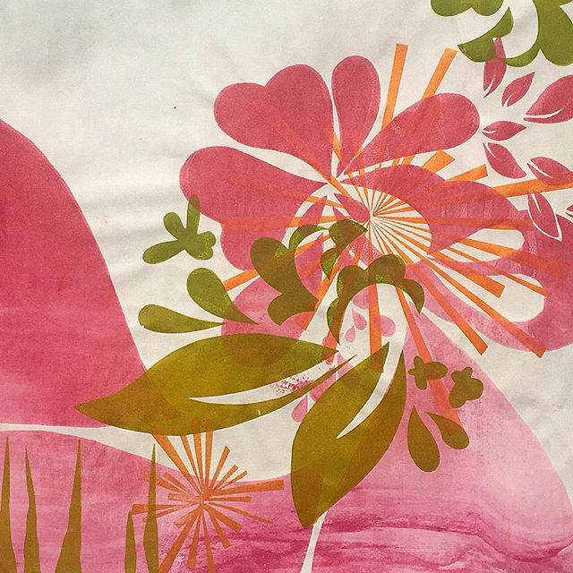 #Spring is a #pink #whirlpool #vortex #wave in this #form #screenprint #magic #hearts #create #flowe