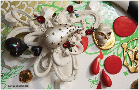 "11""x 20"" Golden Skull & Porcelain Drop poster"