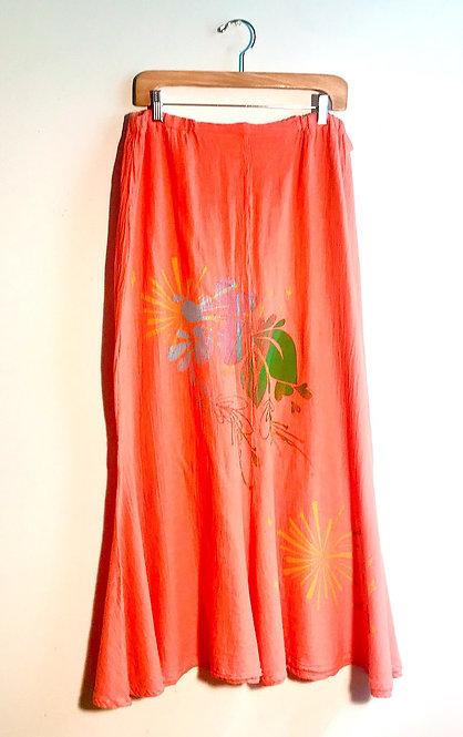 Size 2/M Mango Tulip Cotton Long Skirt