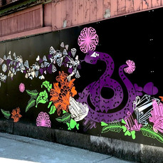 Serpent's Lips- Curated Storefront Mural